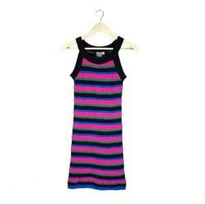 ASOS Bold Multicolored Stripe Sweater Dress